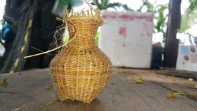 vävd bambu Royaltyfri Fotografi