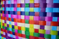 vävd färgrik textur för korg Royaltyfri Foto