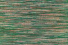 Vävd tygtextur, slut upp av grön textur för tyg för signalfärg Royaltyfria Bilder