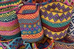 Vävde korgar i Chichicastenango Guatemala Royaltyfri Foto