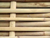 vävt bambustaket Arkivbilder