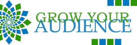 Väx dina horisontalåhöraregräsplanblått Arkivbild
