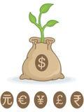 väx dina pengar Arkivfoton