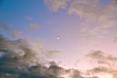 Växande moon Arkivfoton