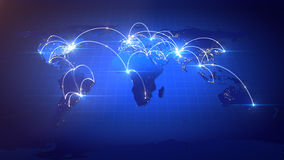 Växande nätverk för global affär Royaltyfri Foto