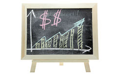 växande pengar för dollargraf Royaltyfri Fotografi
