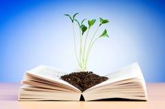 växande plantor för bok Royaltyfri Bild