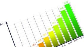 Växande stänger, affärsdiagram stock illustrationer