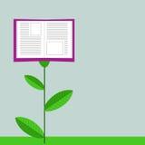 Växande utbildning Bok som blomman vektor illustrationer