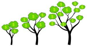 Växande vektor för illustration för pengarträdbegrepp royaltyfri illustrationer
