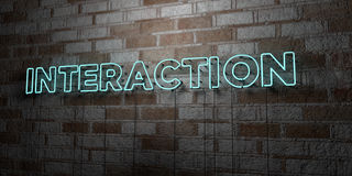VÄXELVERKAN - Glödande neontecken på stenhuggeriarbeteväggen - 3D framförde den fria materielillustrationen för royalty vektor illustrationer