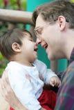 växelverkan som älskar min son Royaltyfria Foton