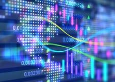 Växelverkande finansiella citationstecken och teknisk analys Royaltyfria Foton