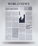 Växelverkande tidning Stock Illustrationer