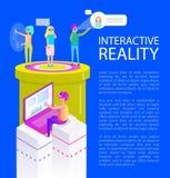 Växelverkande verklighet verkställer vektorillustrationen royaltyfri illustrationer