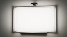 växelverkande whiteboard med en illustrati för multimediaprojektor 3d Arkivfoton