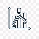 Växlingsvektorsymbol som isoleras på genomskinlig bakgrund, linje royaltyfri illustrationer