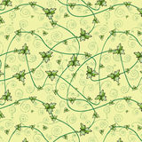 växt av släkten Trifolium låter vara modellen seamless Stranda av hår vänder mot in Arkivfoto