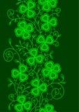 Växt av släktet Trifolium snör åt seamless vertical Arkivfoto