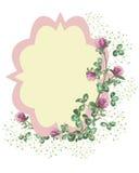 Växt av släktet Trifoliumkrans Stock Illustrationer