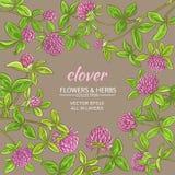 Växt av släktet Trifoliumvektorram royaltyfri illustrationer