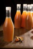 Växt- avkok i klar flaska Arkivbild