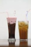 Växt- drinkar som underhåller kroppvillkor Arkivfoto