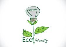 Växt Eco vänlig för ljus kula Arkivfoton