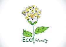 Växt Eco vänlig för ljus kula Fotografering för Bildbyråer