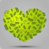 Växt- hjärta stock illustrationer