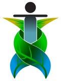 växt- logo för omsorg stock illustrationer