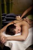 växt- masage Arkivbild