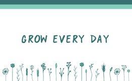 Växt- motivational baner för vektorgräsplan stock illustrationer