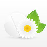 Växt- preventivpiller. Vektorillustration. Royaltyfri Foto
