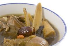 växt- soup för kinesisk closeup Royaltyfria Foton
