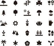 VÄXT- & TRÄDskårasymboler royaltyfri illustrationer