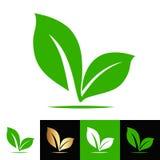 Växten kärnar ur bladlogoen, materielvektorillustration royaltyfri illustrationer