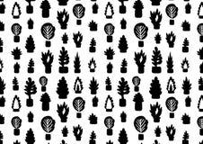 Växter i en krukamodell Vektor Illustrationer