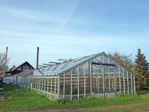 växthus för 2 exponeringsglas Arkivfoton
