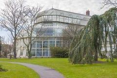 Växthus i de nationella botaniska trädgårdarna arkivfoto