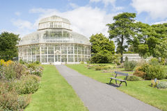 Växthus i den nationella botaniska trädgården arkivfoto