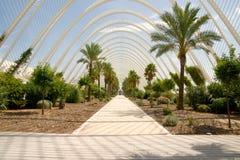 växthus l umbracle Fotografering för Bildbyråer
