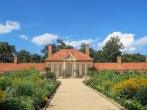 Växthus och trädgård på Mount Vernon av Virginia Arkivbild