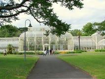 Växthus på de nationella botaniska trädgårdarna av Dublin royaltyfria bilder