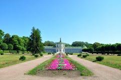 Växthuset på lantgården Kuskovo. Arkivfoto