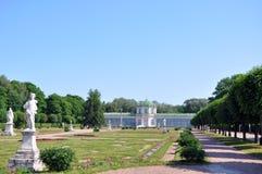 Växthuset på lantgården Kuskovo. Arkivbilder