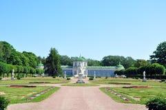 Växthuset på lantgården Kuskovo. Arkivfoton