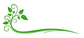Växtlogo stock illustrationer