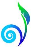 växtswirl Arkivfoto