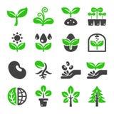 Växtsymbolsuppsättning stock illustrationer